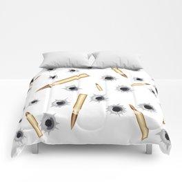 BULLETS N BULLET HOLES Comforters