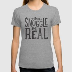 the snuggle is real Tri-Grey Womens Fitted Tee MEDIUM