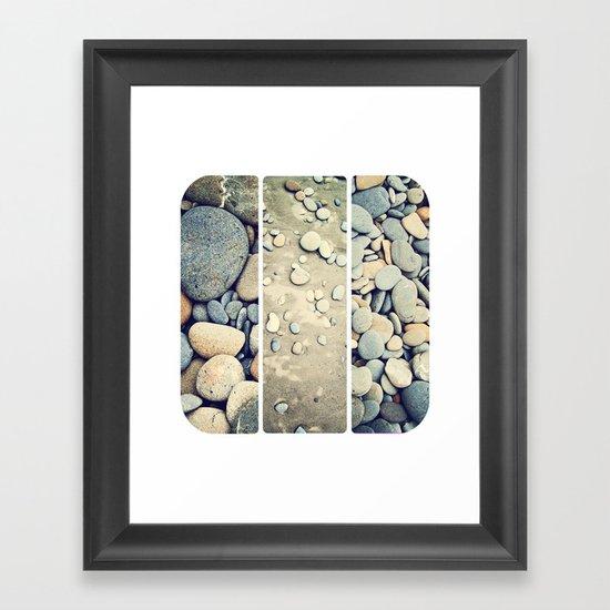 Ruby Beach Trio Framed Art Print