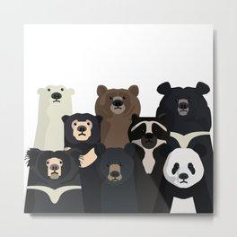 Bear family portrait Metal Print
