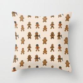 BDSM Gingerbread Throw Pillow