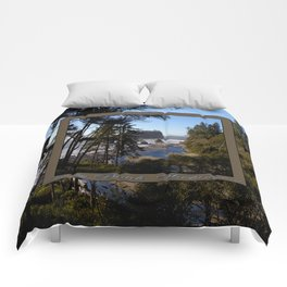 awesome ruby beach, wa (2x square) Comforters