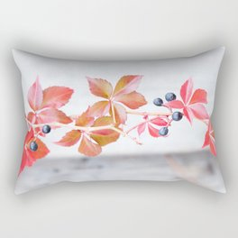 Rustic Berry Vine in the Fall Rectangular Pillow