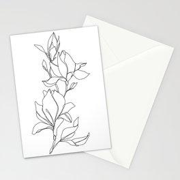 Botanical illustration line drawing - Magnolia Stationery Cards