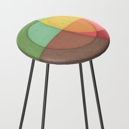 Concentric Circles Forming Equal Areas Counter Stool