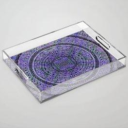Zentangle Mandala Acrylic Tray