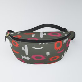 Tribal pattern with cacti Fanny Pack