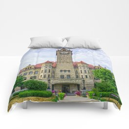 Bowling Green Courthouse Comforters