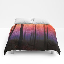 Whispering Woods, Colorful Landscape Art Comforters