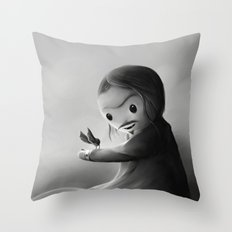 With fangs and love Throw Pillow