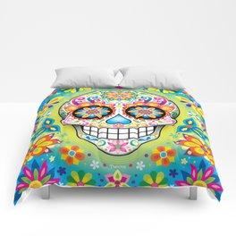 Sugar Skull Art (Jubilee) Comforters