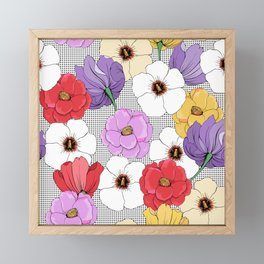 Garden flowers Framed Mini Art Print