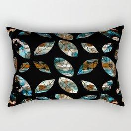 Leaves - Modern Metallic Design Rectangular Pillow