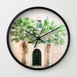 """Travel photography print """"Magical Marrakech"""" photo art made in Morocco. Pastel colored. Wall Clock"""