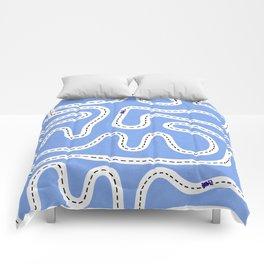 Blue Speed Racers Comforters