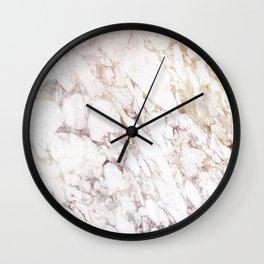White Onyx Marble Wall Clock
