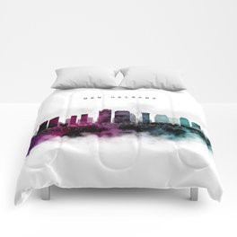 New Orleans Watercolor Skyline Comforters