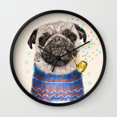 Mr.Pug II Wall Clock