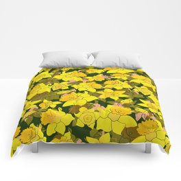 Daffodil Forest Comforters