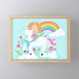 Unicorns, Mermaids & Rainbows...Oh My! Framed Mini Art Print