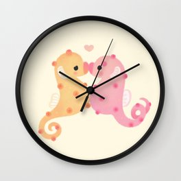 Pygmy seahorses Wall Clock