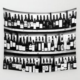 Wine Bottles in Black And White #society6 #decor Wall Tapestry