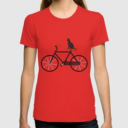 Cat Riding Bike T-shirt