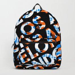 London  - city names text design  orange/blue Backpack