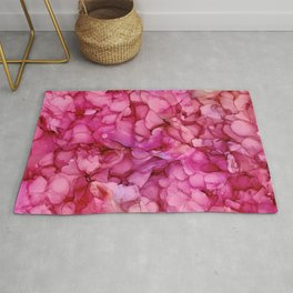 Passion Roses: Original Abstract Alcohol Ink Painting Rug
