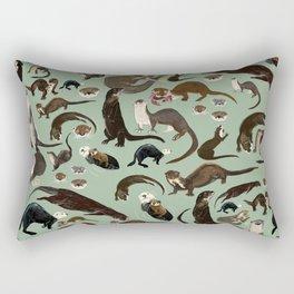 Otters of the World pattern Rectangular Pillow