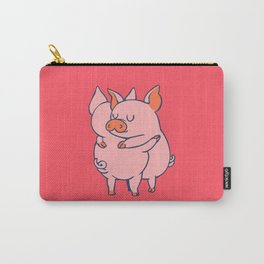 Pig Hugs Carry-All Pouch