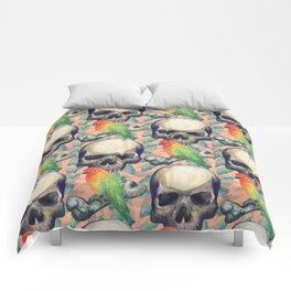 Skulls and lovebirds Comforters