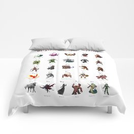 Monster Alphabet Comforters