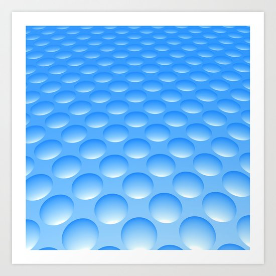 Bump Pattern, Blue Art Print