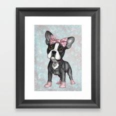 Sweet Frenchie Framed Art Print