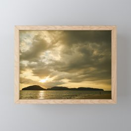 Golden Sunset Framed Mini Art Print