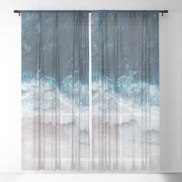 Blue Sea II Sheer Curtain