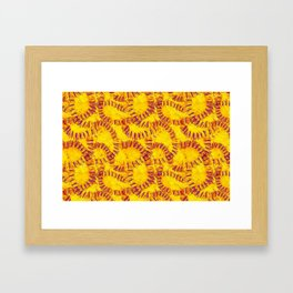 Orange Peel Impressions Framed Art Print