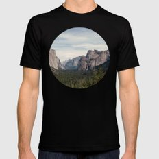 Yosemite Valley MEDIUM Mens Fitted Tee Black