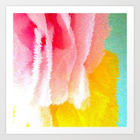Pink and yellow Art Print