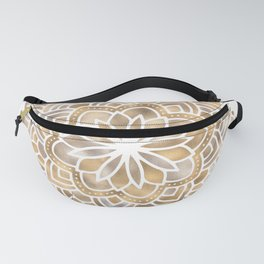 Mandala Multi Metallic in Gold Silver Bronze Copper Fanny Pack