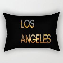 Los Angeles Sunset Tyography Rectangular Pillow