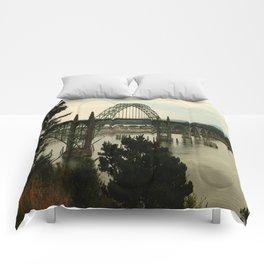 Yaquina Bay Bridge Comforters