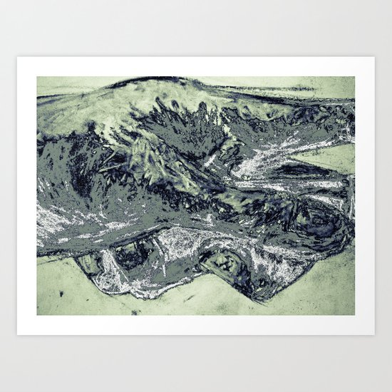 Abstracted hand in color  Art Print