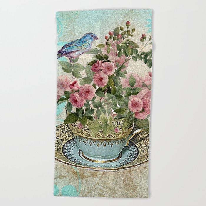 Tea Flower #1 Beach Towel