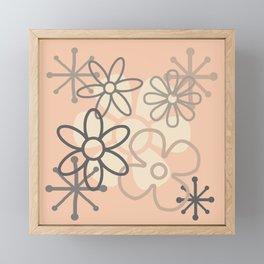 Mid Century Modern Flowers Framed Mini Art Print