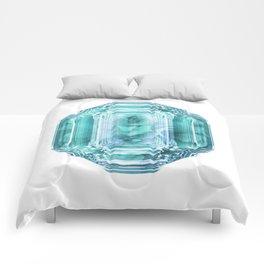 Aquamarine Rose Crystal Comforters
