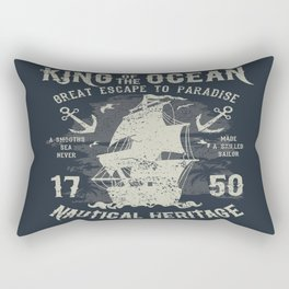 King of the Ocean Rectangular Pillow