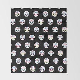 Cute sugar skulls B Throw Blanket