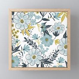 Harper - Dusk Blue Framed Mini Art Print